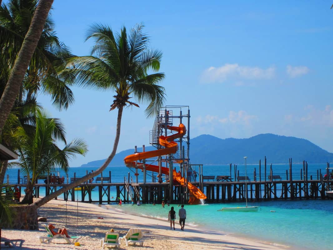 Pulau Rawa Activities: Water Sliding