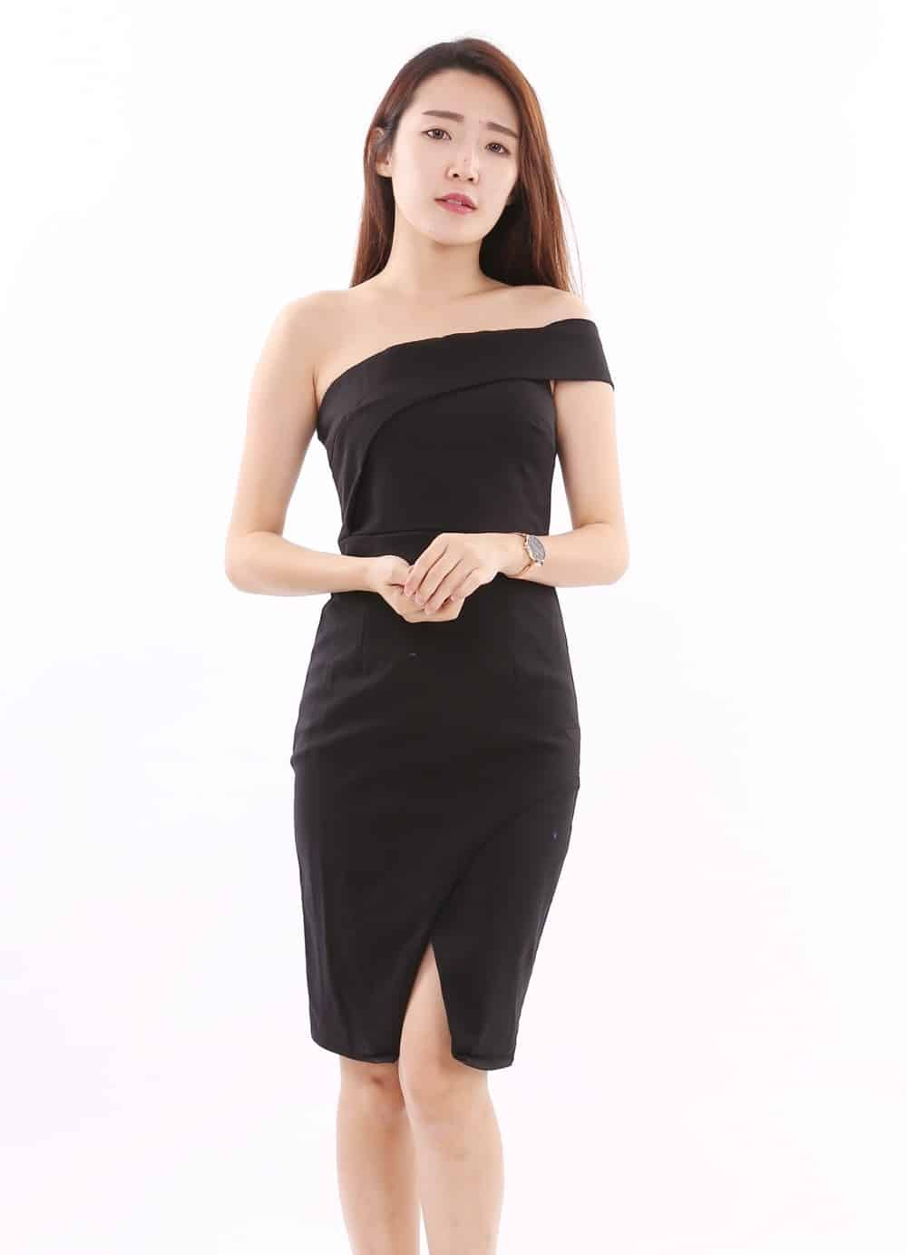 Online Boutique Malaysia: ASOC Sided Shoulder Dress