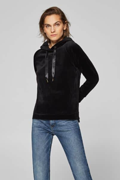 Online Clothes Store Malaysia: Esprit ECD Velvety Soft Velour Hoodie