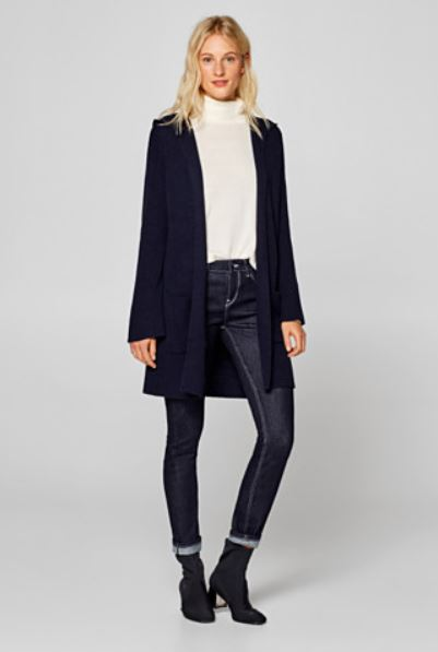 Online Clothes Store Malaysia: Esprit EDC Long Wool Hood Cardigan