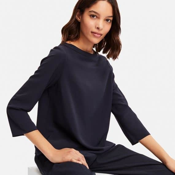 Malaysia Online Boutique: Uniqlo Women Drape 34 Sleeve T-Shirt Blouse