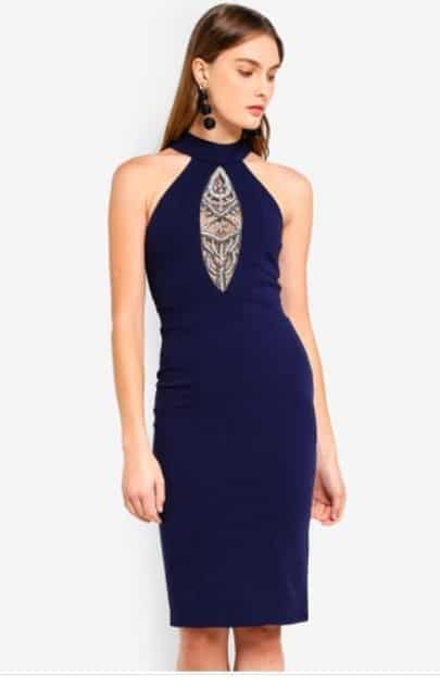 Malaysia Clothing Online Store: Zalora Goddiva Embellished Midi Dress