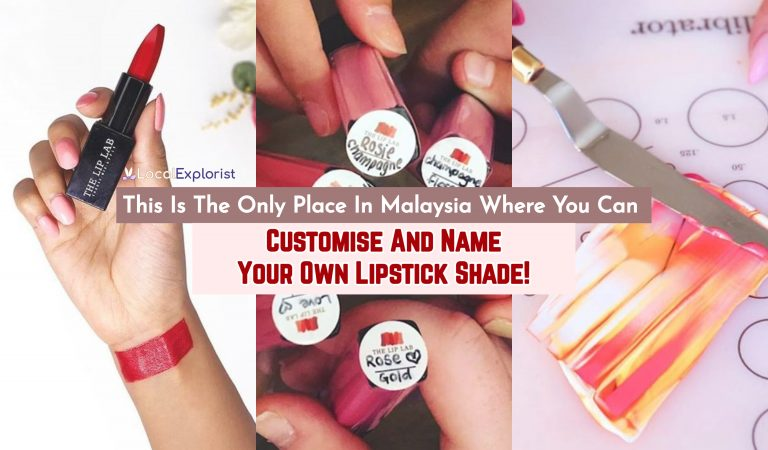 This Is The Only Place In Malaysia Where You Can Customise And Name Your Own Lipstick Shade!