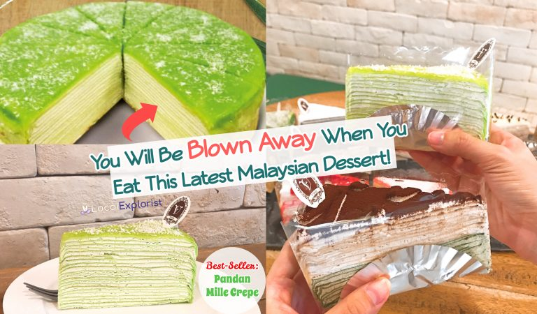 You Will Be Blown Away When You Eat This Latest Malaysian Dessert – Pandan Mille Crepe!