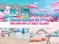 Unleash Your Inner Kid At This Unicorn Inflatable Island!