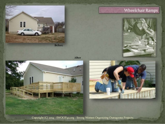 strong women project - wheelchair ramps